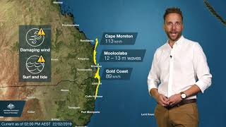 WEATHER UPDATE: Category 1 tropical cyclone Oma expected to remain offshore, 22 February 2019
