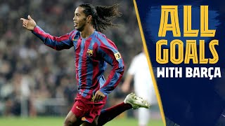 Ronaldinho spent four seasons at fc barcelona, lighting up the camp nou with his dazzling skills and incredible goals. take a look back every strike from ...