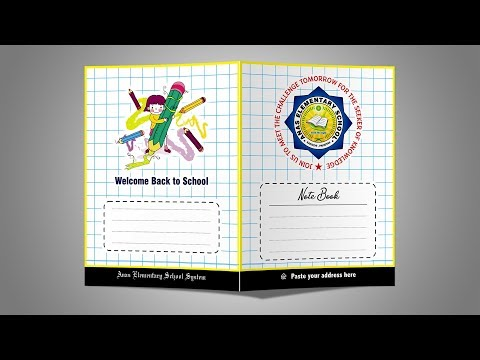 Download Notebook Title Desing With Coreldraw 2018 Tutorial