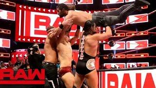 Seth Rollins, Finñ Balor and Jeff Hardy vs The Mîz and Mîz Tourage on Raw April 9, 2018