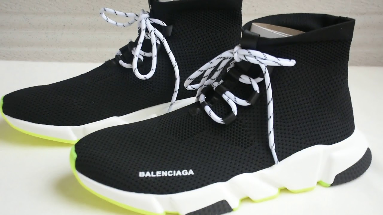 Balenciaga Speed Lace Up Trainers Black