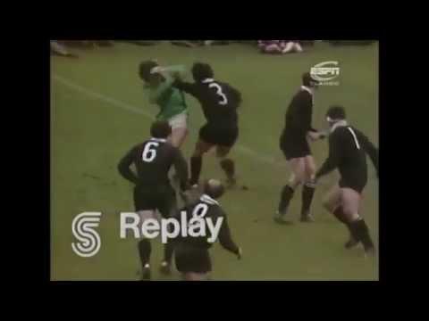 Alex Wyllie try vs Ireland 1973