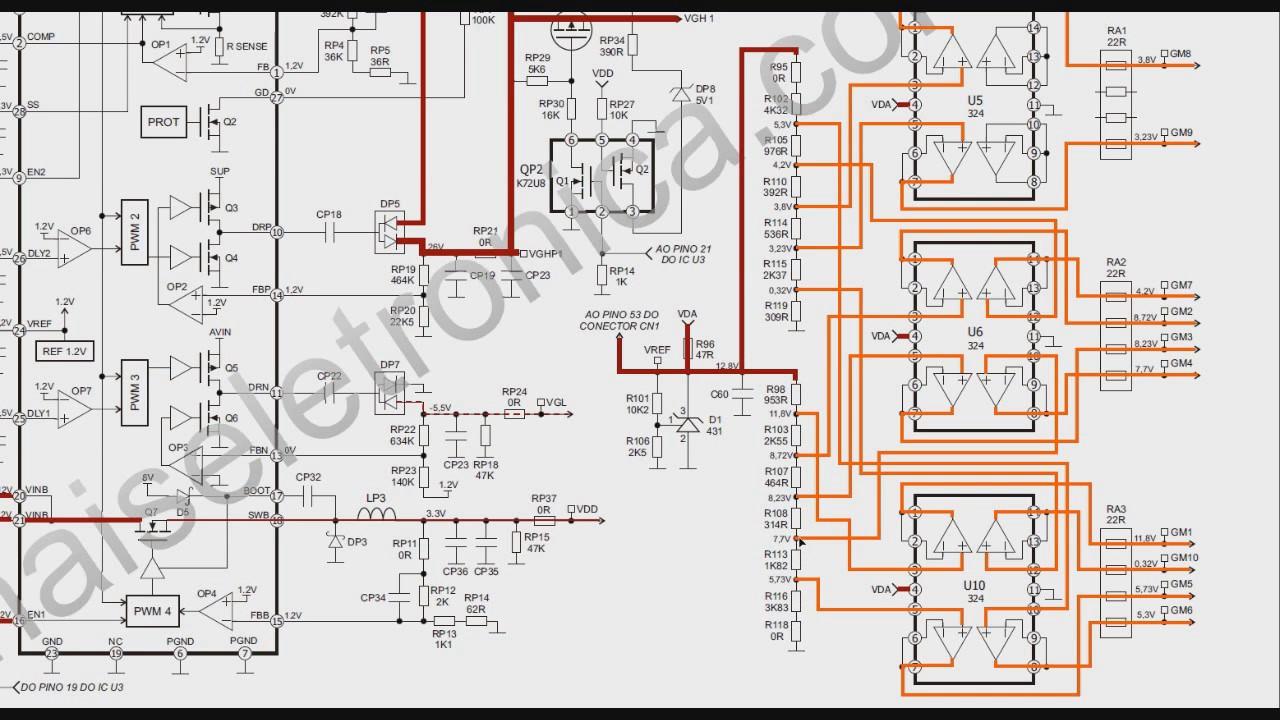 TV LCD 51 Leitura de esquema Placa T con 4