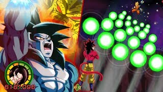100% FULL POWER SSJ4 GOKU MAX DAMAGE NUKE TEST (Full Power Super Saiyan 4 Goku) DBZ Dokkan Battle