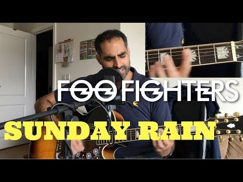 ♫ Sunday Rain (Acoustic Cover) ♫ - with chords displayed in real time - Foo Fighters