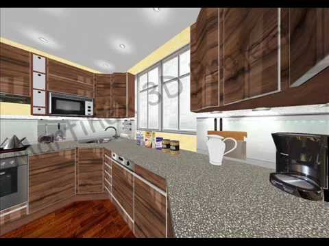 Wizualizacja 3d Meble Kuchenne