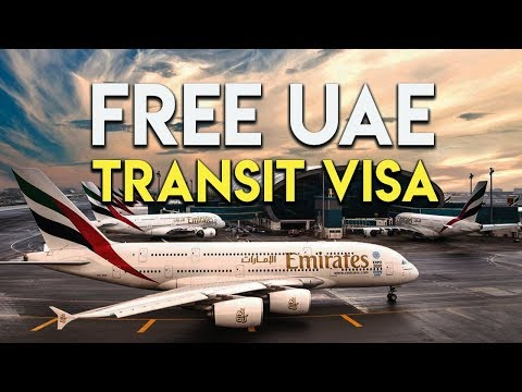 Free UAE transit visa for tourist.