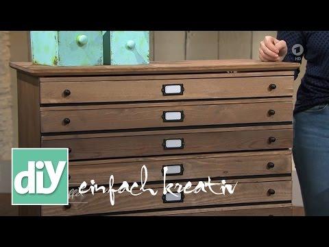 Vintage Kommode Selber Bauen Handwerken Basteln Schrank Schubladen