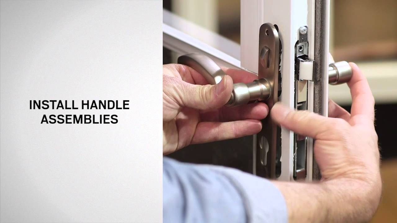 Replacing Handles On Full Lite Self Storing Storm Doors