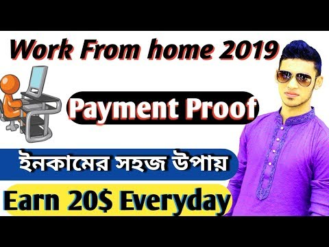 Get Paid by Work From Home 20$ Perday || Payment Proof