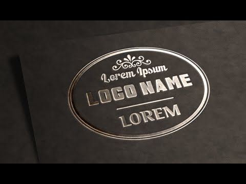 Photoshop Tutorial | Logo Design | Text Effects (Metallic Stamping)