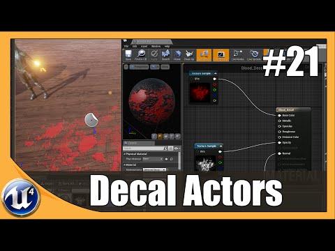 Unreal Engine 4 Beginner Tutorial Series - #21 Decals & Opacity masks
