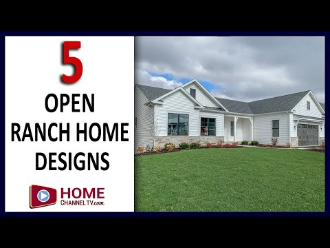 Five Beautiful Custom Ranch Home Designs - Walk-through Tour