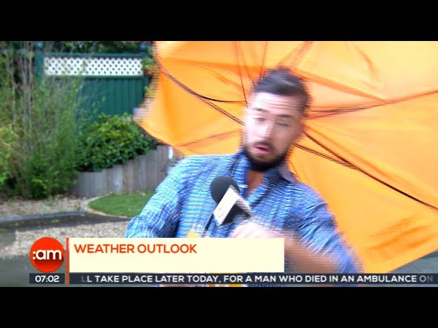 Ireland AM: Weatherman gets (almost) blown away on Irish TV