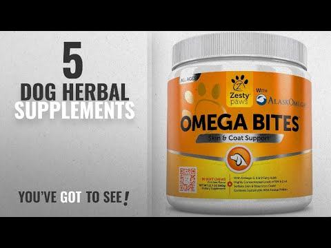 Top 10 Dog Herbal Supplements [2018 Best Sellers]: Omega 3 Alaskan Fish Oil Chew Treats for Dogs -