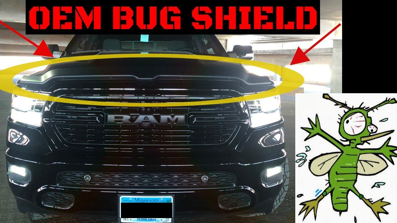 2019 Ram Factory Hood Deflector Install Video - YouTube