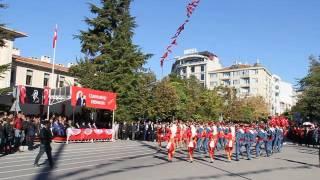 93rd anniversary of the Feast of Turkey Republic in Kırklareli (Thrace) October 29th, 2016