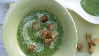Крем-суп из шпината. Суп-пюре из шпината со сливками.