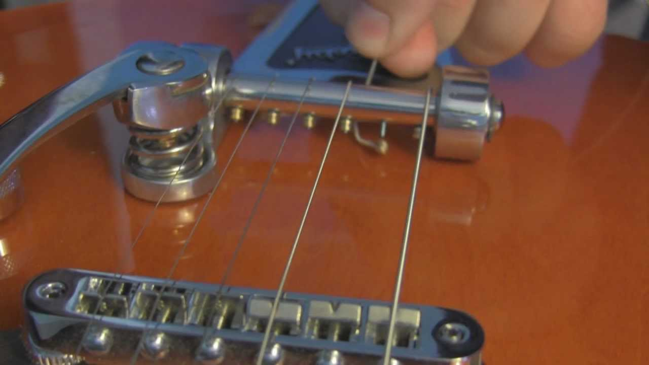 How To Change Strings On A Bigsby Guitar Youtube
