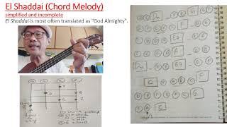 Ukulele Finger-picking Tutorial 5 - Chord Melody for El Shaddai