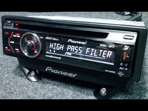 PIONEER CD USB  MP3 AUTO RADIO DEH 3050UB 4 X RCA SUBWOOFER