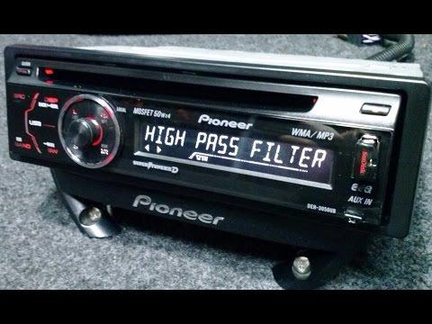 PIONEER CD USB  MP3 AUTO RADIO DEH 3050UB 4 X RCA SUBWOOFER