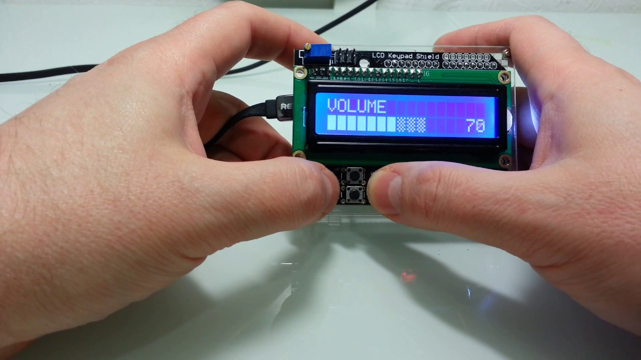 Arduino Lcd Keypad Shield With Super Scrollable L Menu System Youtube