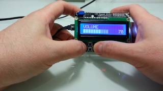 Arduino LCD Keypad shield with super scrollable L-menu system