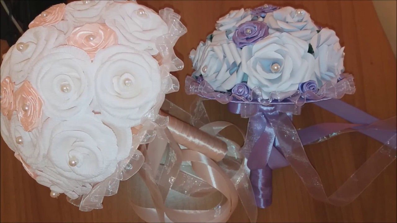 Tutorial Bouquet Sposa.Bouquet Per Sposa Fai Da Te Diy Bridal Bouquet Youtube
