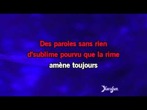Karaoké Trois petites notes de musique - Yves Montand *