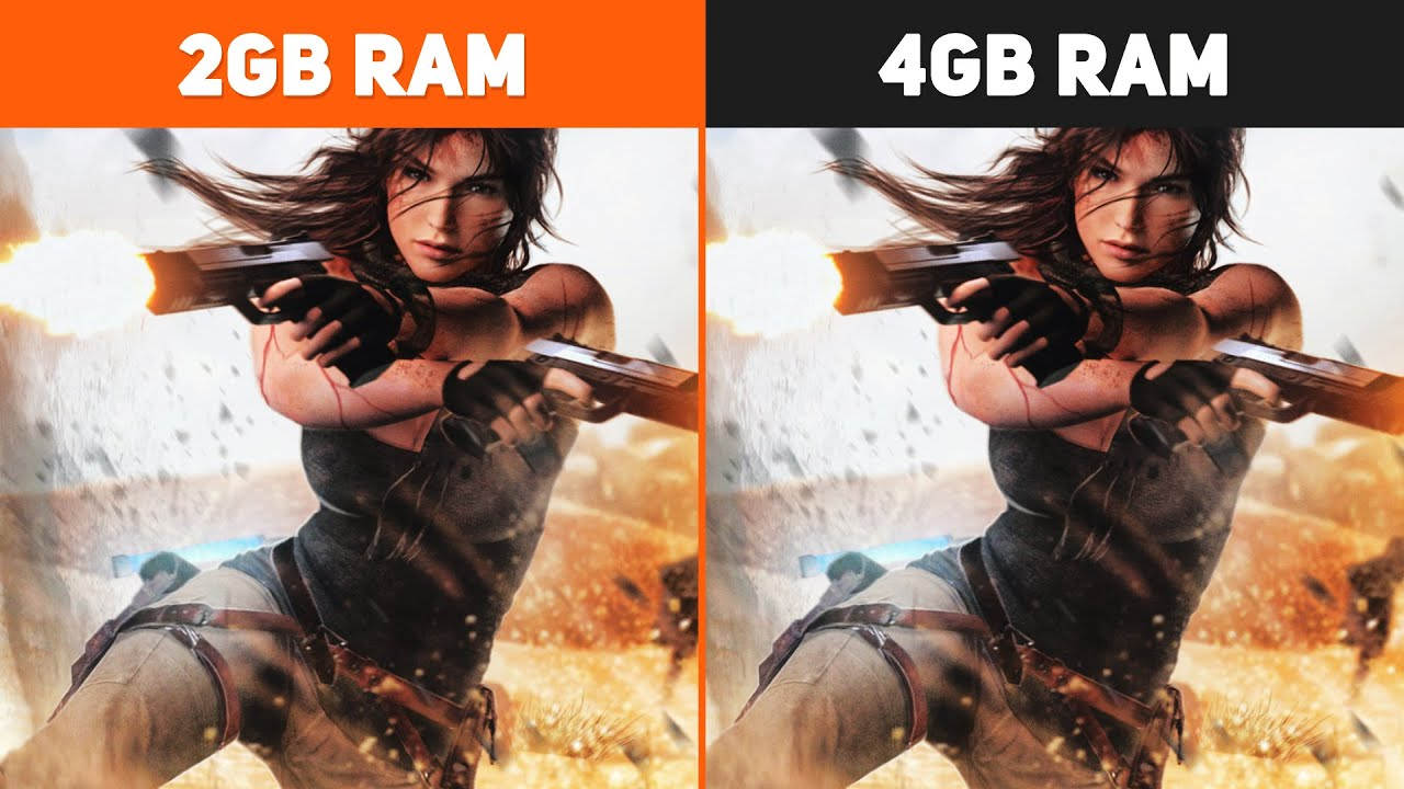 2GB RAM vs. 4GB RAM Test in 5 Games | Performance Comparison #2