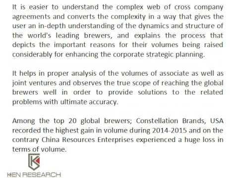 Europe Alcoholic Beverages Market, Global Beer Industry - Ken Research