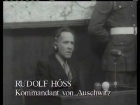 Rudolf Hoess, former Auschwitz commandant, testifying at the Nuremberg trial, April 15, 1946