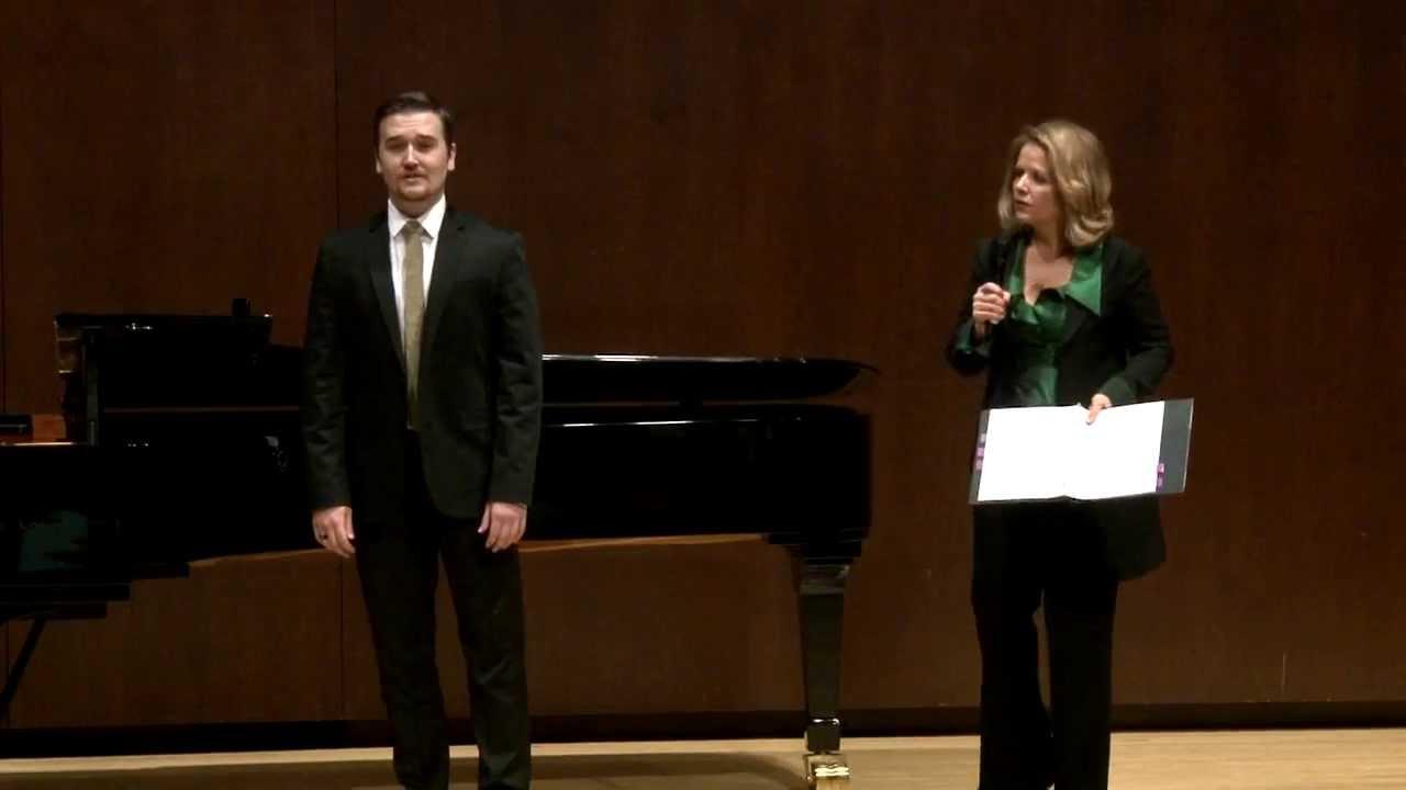 Renée Fleming Master Class, February 13, 2014: Miles Mykkanen and Dimitri Dover