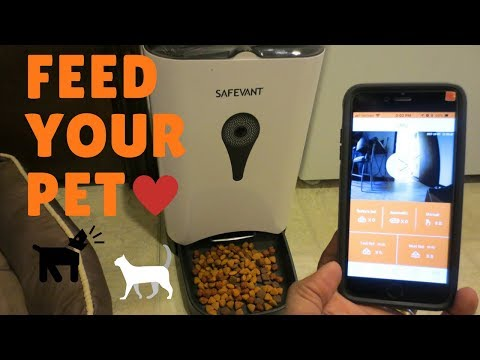 Safevant Wireless SmartFeeder - Automatic Pet Food Dispenser with HD Video and 2-way Audio
