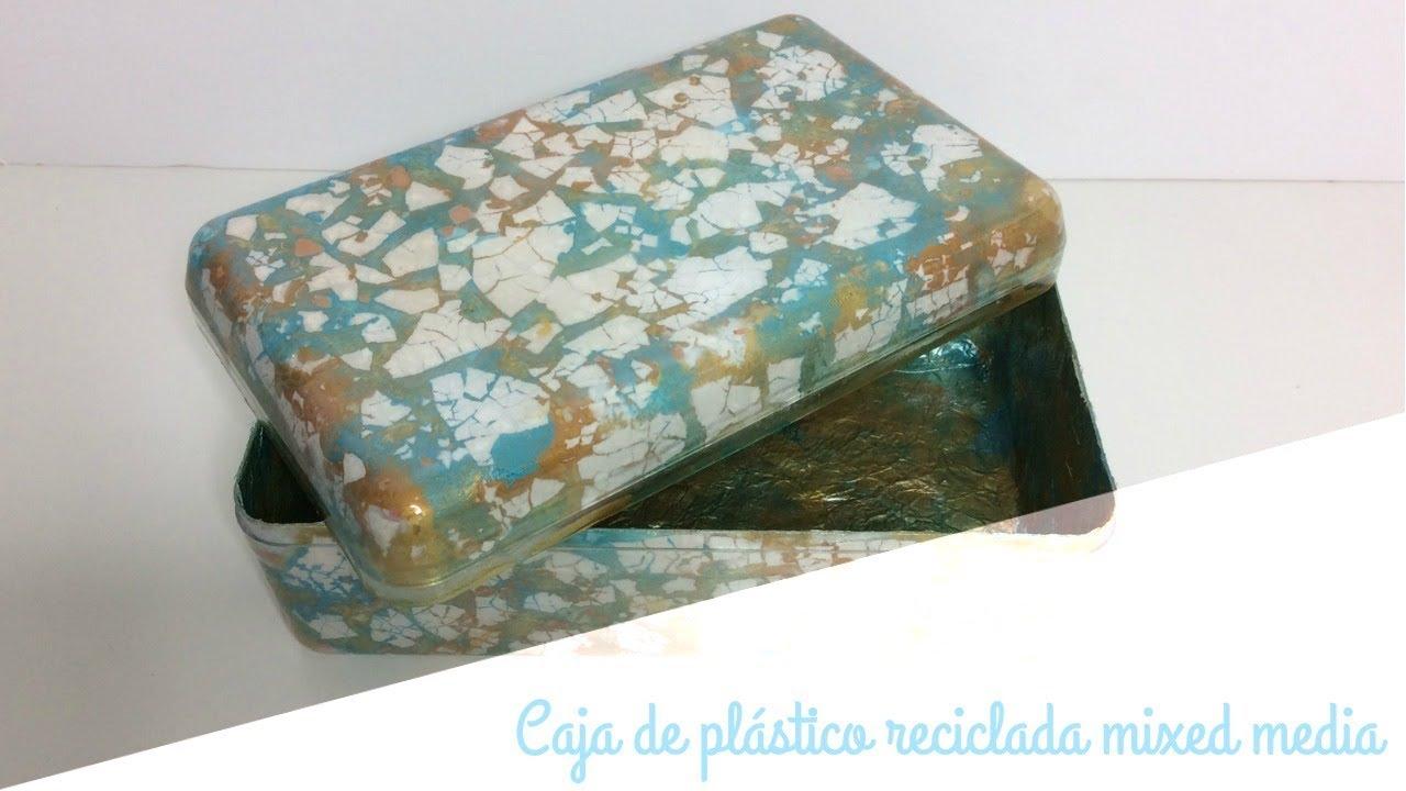 Cómo reciclar una caja de plástico con papel de aluminio y cáscara ...