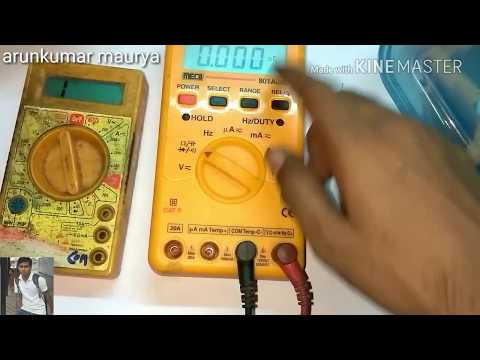 How  to various type  of  digital multimeter for checking electronic components and voltage ⚡