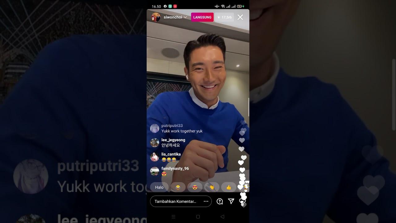 Download Siwon Choi (Siwon SuJu) live instagram 03/02/2021