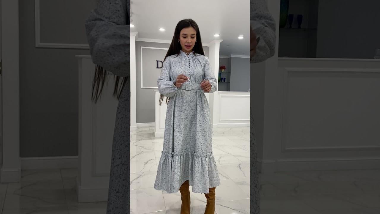 Платье с цветочным принтом 2021