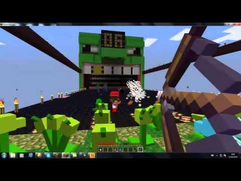 растения против зомби в майнкрафт :мини игра