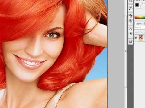 How to change hair colour in Photoshop CS3 - YouTube