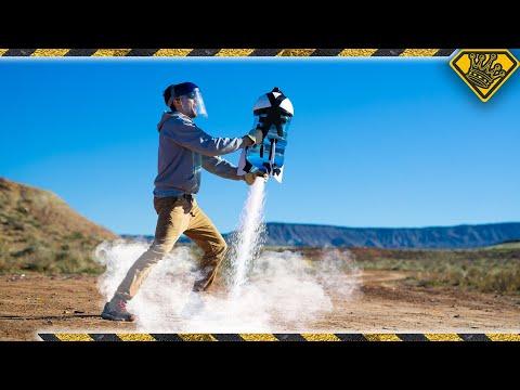 Launching A 5 GALLON Liquid Nitrogen Rocket!