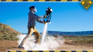 Launching a 5 GALLON Liquid Nitrogen Rocket!