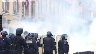 Протесты против реформы образования в Тулузе