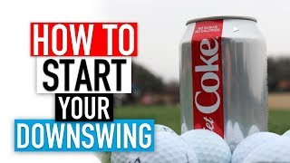 How to start your downswing in golf FOR POWER!!