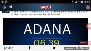 Adana Bayram Namazı Saat Kaçta? 21 Ağustos 2018
