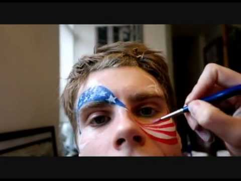 American Flag Face Painting Designs
