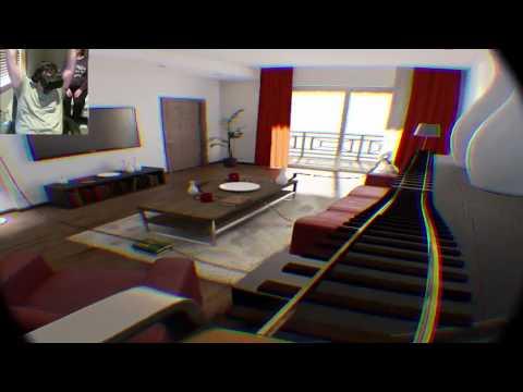 Oculus Rift DK2 Roller Coaster - My Dad Tries the Rift!