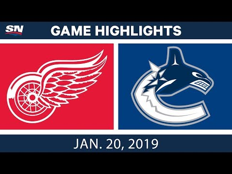 NHL Highlights | Red Wings vs. Canucks - Jan. 20, 2019