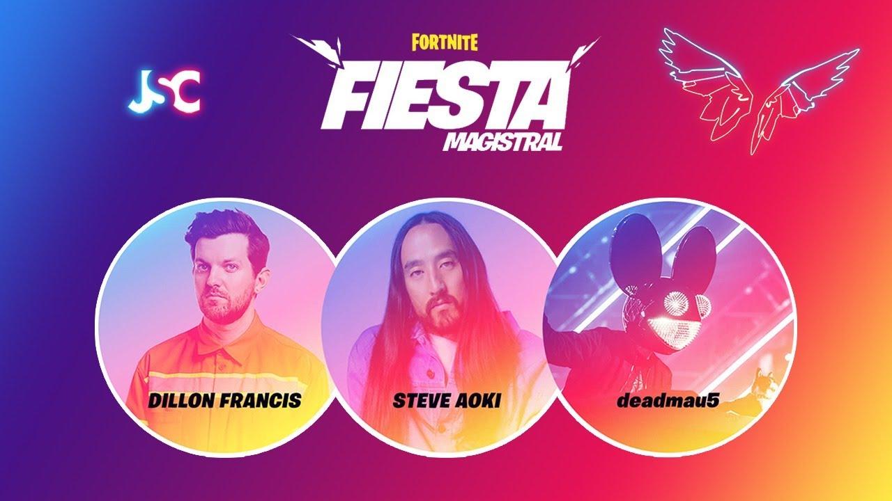 Deadmau5, Steve Aoki y Dillon Francis en Fortnite [Fiesta ...